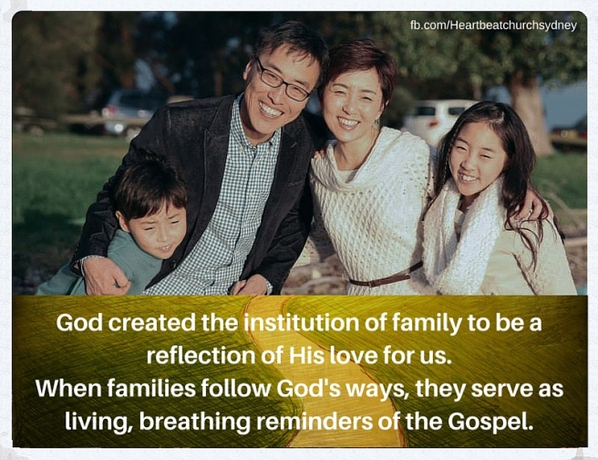God created the institution of family to